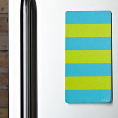 Lulalu List Pad Weekly Cool Stripes on Stainless Fridge