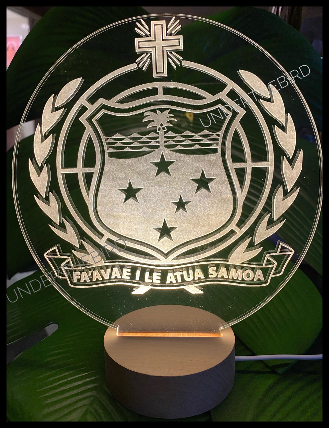 ‎ SAMOAN COAT OF ARMS  LED Display