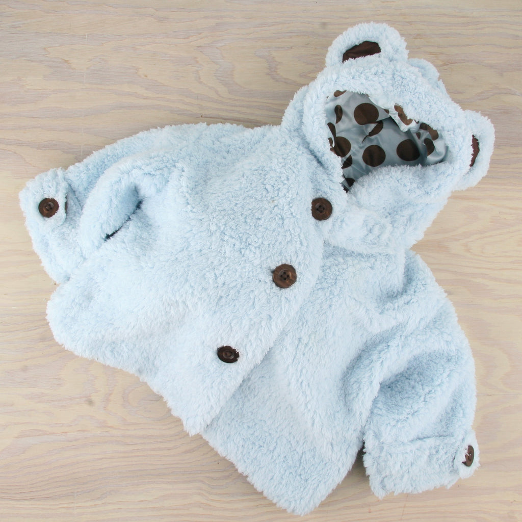 Blue Bear Baby Coat