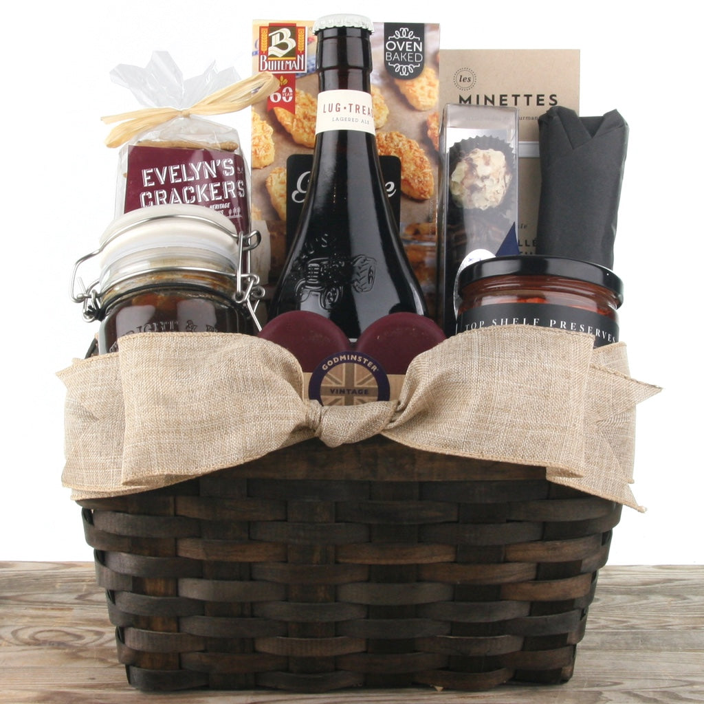Beer and Cheese Gift Basket