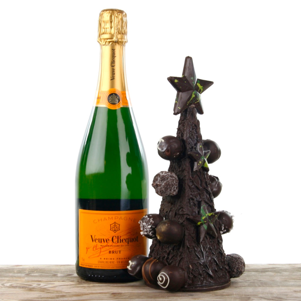 Champagne and Chocolate Truffle Christmas Tree