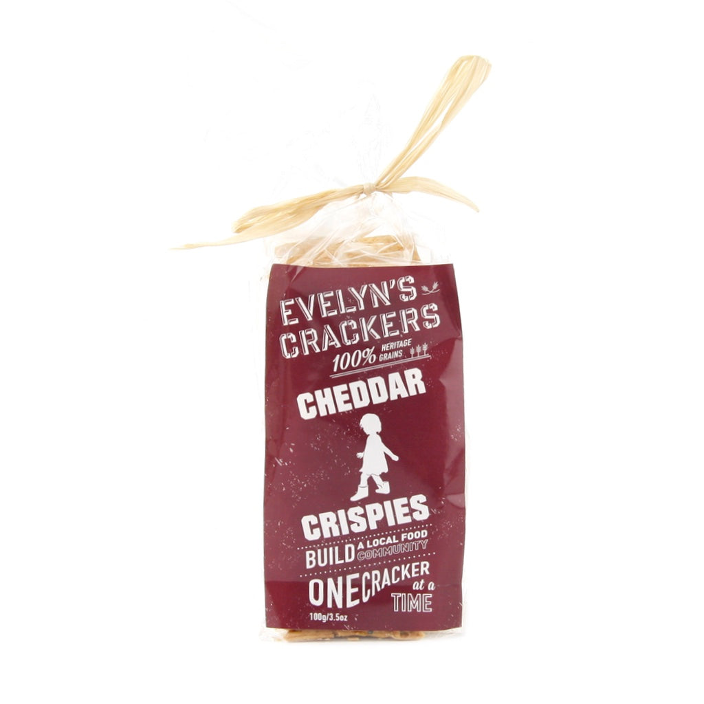 Cheddar Crispies Crackers made with heritage grains.