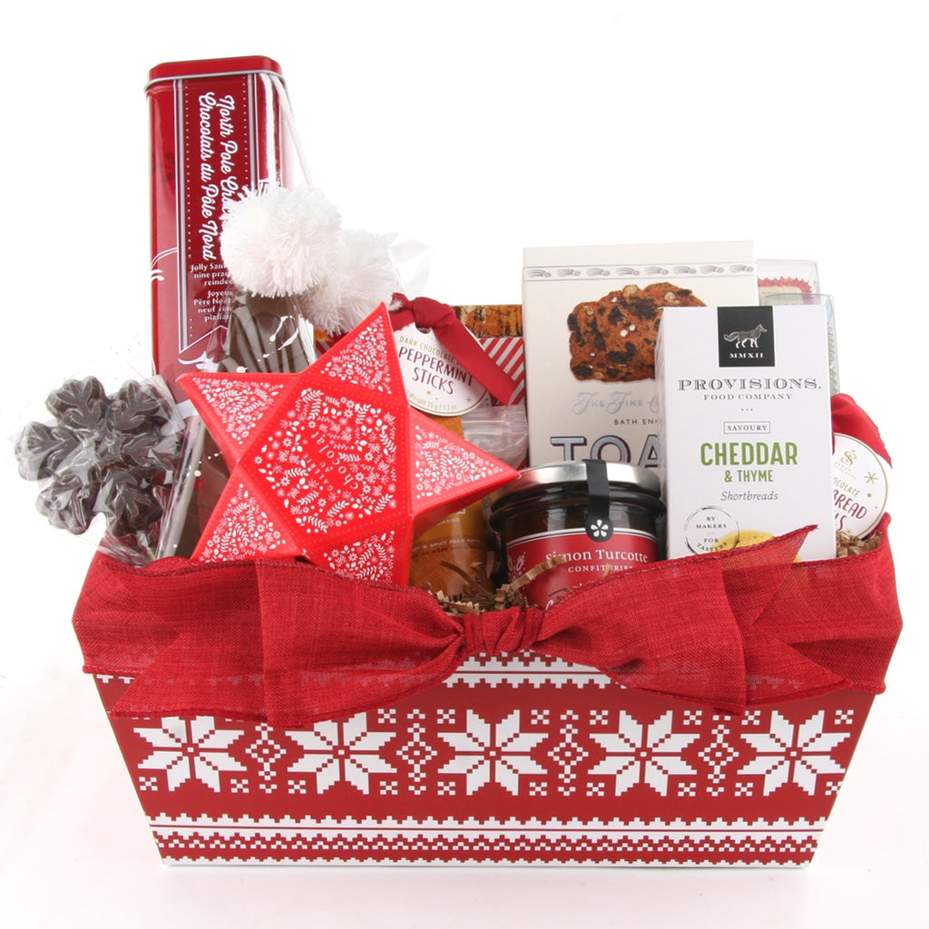Holiday Snaker Christmas Gift Basket