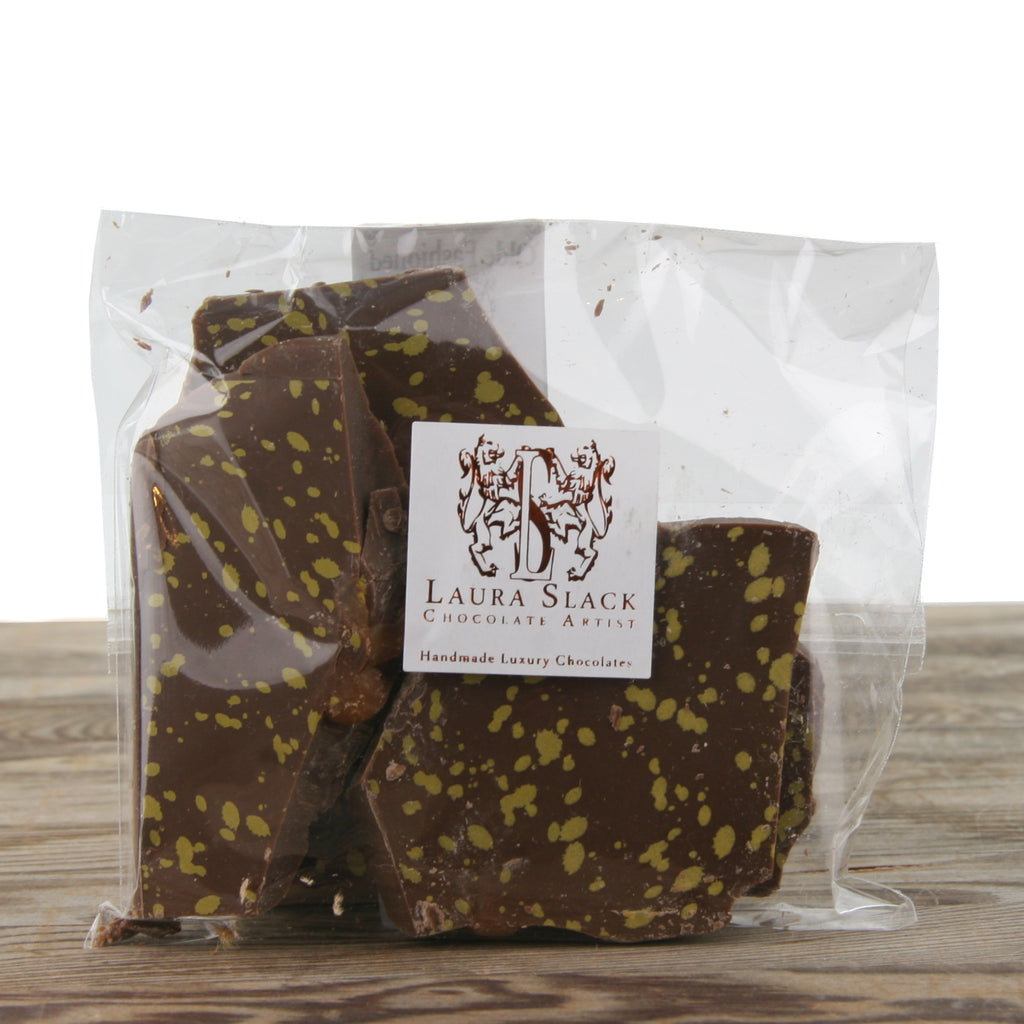 Laura Slack Milk Chocolate Almond Salted Caramel Bark