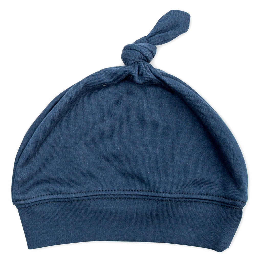 Navy Bamboo Cotton Baby Hat
