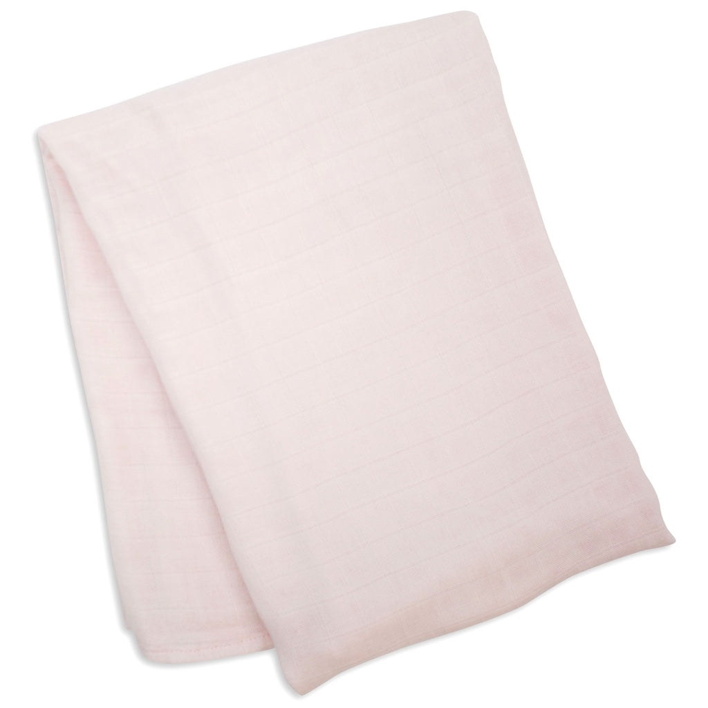 Pink bamboo swaddle blanket