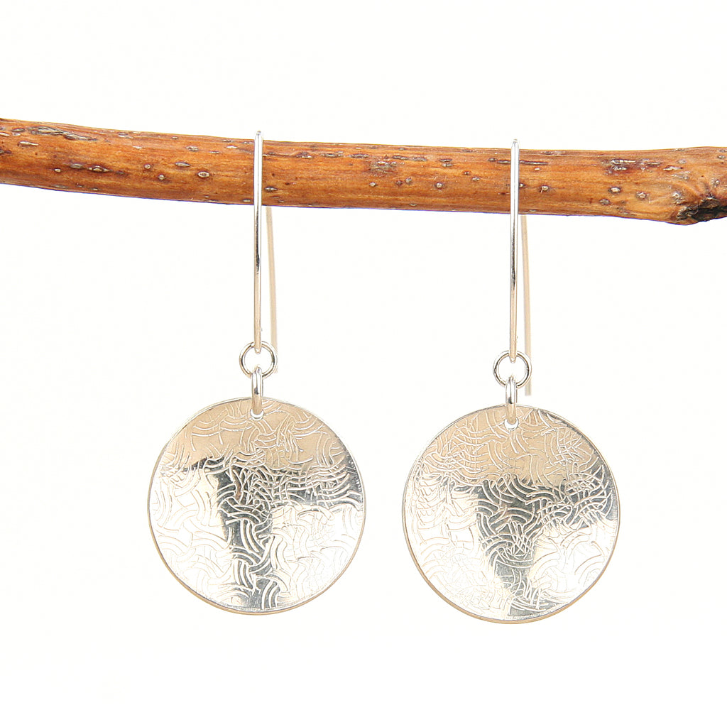 Knotted Silver Earrings