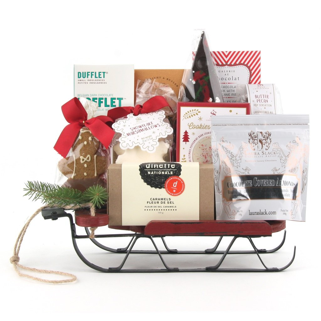 Sweet Holiday Treats Christmas Gift Basket