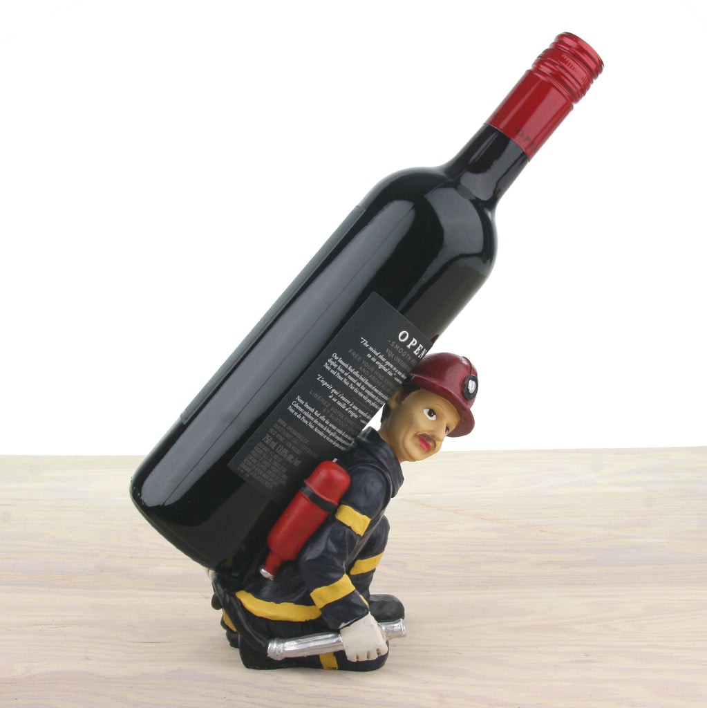 Vintage Firefighter Wine Bottle Holder