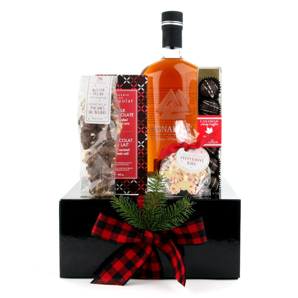 Whiskey and Chocolates Christmas Gift Box