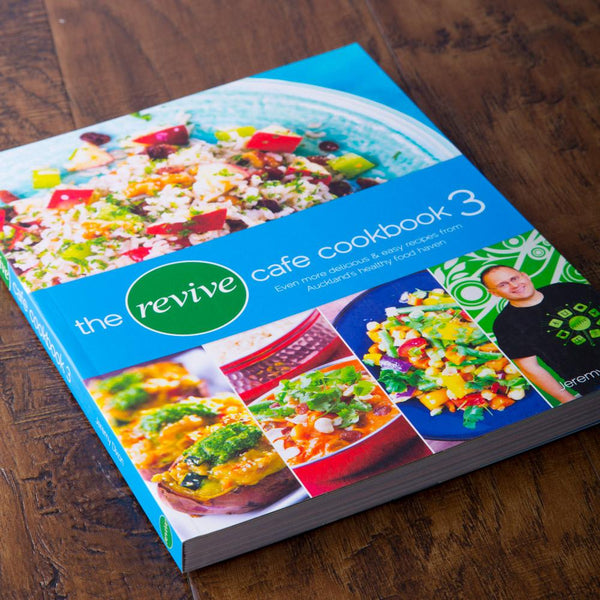 The Revive Cafe Cookbook 3 (Blue) - Revive Vegan Cafe