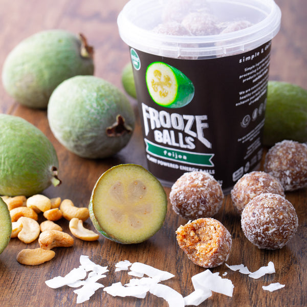 Frooze Balls Pottle - Feijoa - Revive Vegan Cafe