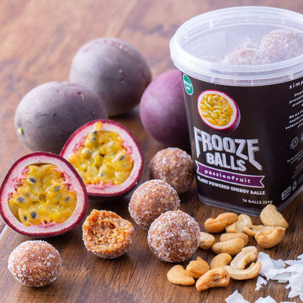 Frooze Balls Pottle - Passionfruit - Revive Vegan Cafe