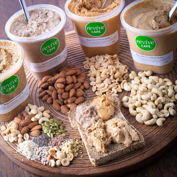 Nut Butters Lovers Box MEGA POTS (4 items) - Revive Vegan Cafe
