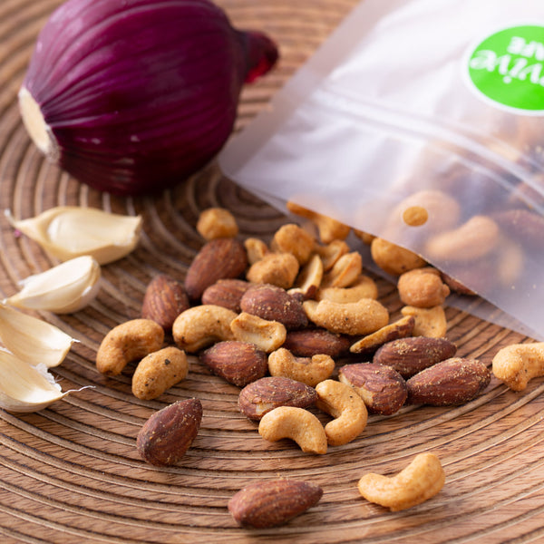 Roasted Onion & Garlic Nuts 150g - Revive Vegan Cafe