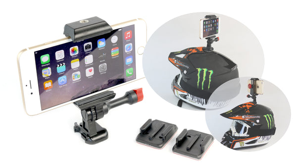 iphone helmet mount adhesive phone samsung galaxy