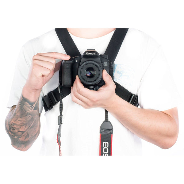 Camera Chest Rig Mount for DSLR.  Works Great for Hands Free Filming:Velocity Clip