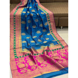 Banarasi Crystal Handloom Weaving Silk Saree