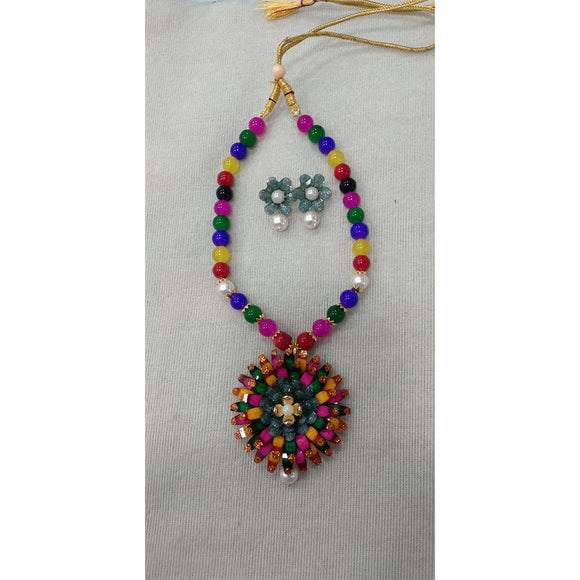 Fancy Beads Pendant Set