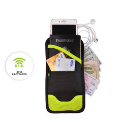 Running Buddy RFID Anti-theft Neck Wallet