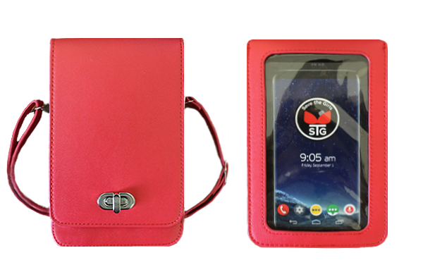 """Elegance"" Touchscreen RFID Cell Phone Purse"