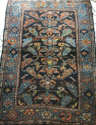I1) 4'2x5'8 Antique Brown Hamadan