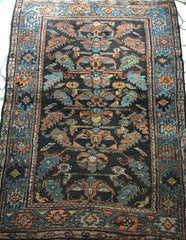 A11) 4'2x5'8 Antique Brown Hamadan