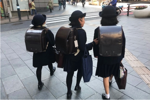 travels to Japan with the maker - Japanese school girls