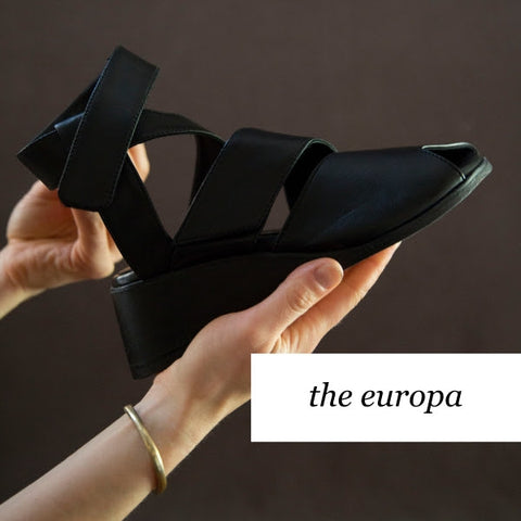 Booker & Co, the maker hobart, designed in Australia, leather shoes, statement shoes, the europa wedge shoe