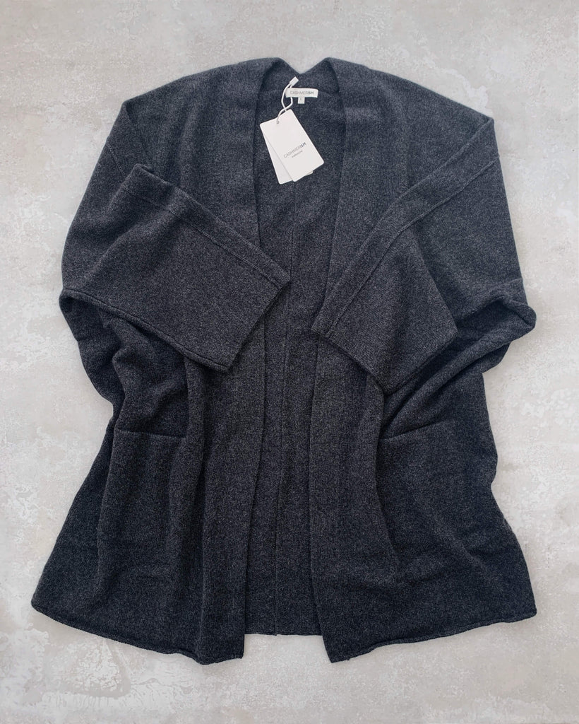 cashmerism : icon coat in charcoal