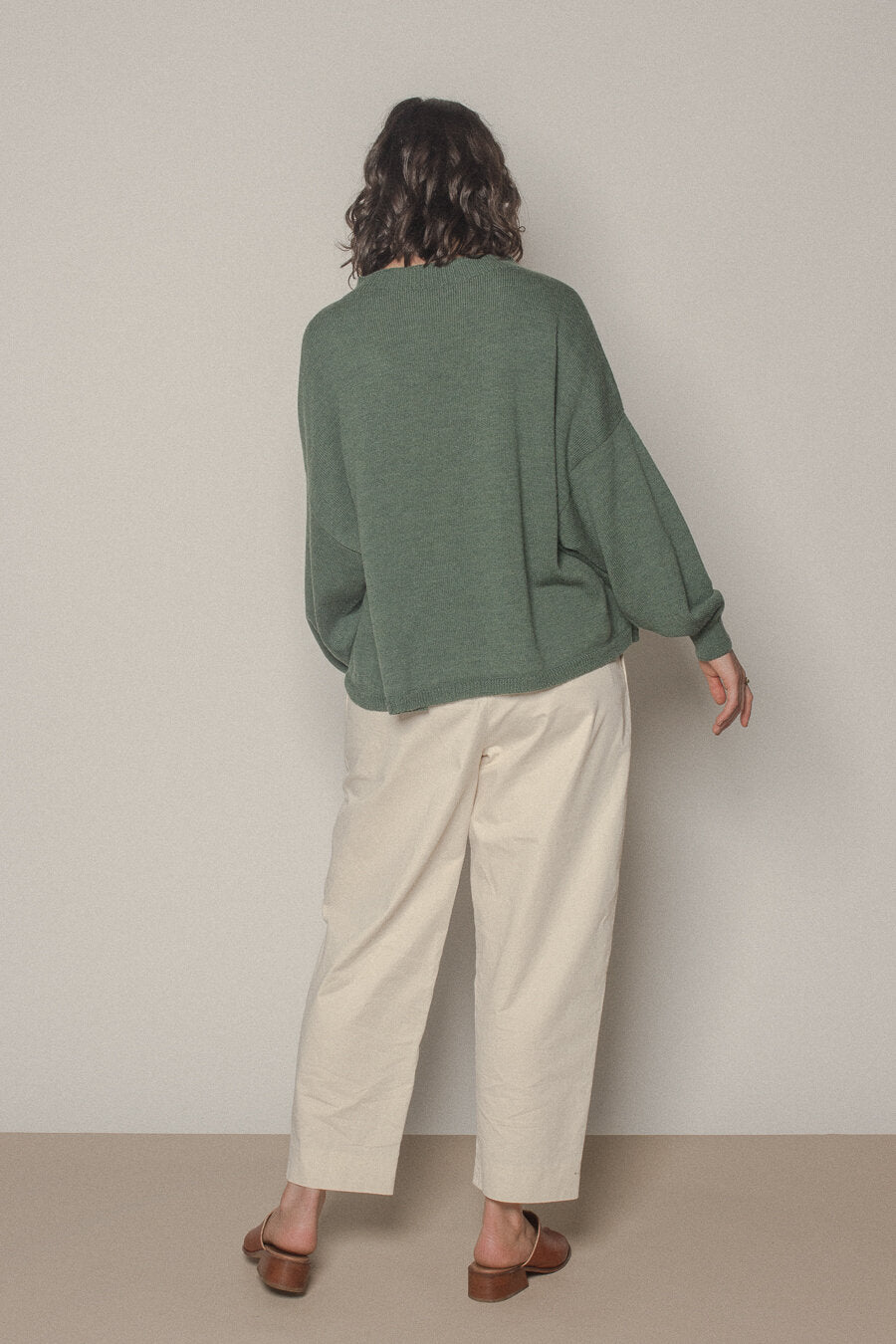 francie : cirrus knit in sage green