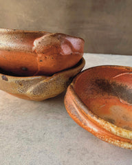 neil hoffman : small woodfired fold bowl