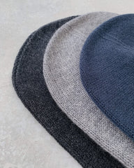 cashmerism : rolled edge slouch beanie in mid grey