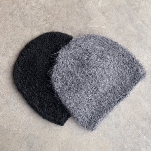 karakoram : alpaca wool knitted hat in graphite