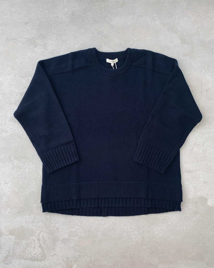cashmerism : double hem pullover in navy