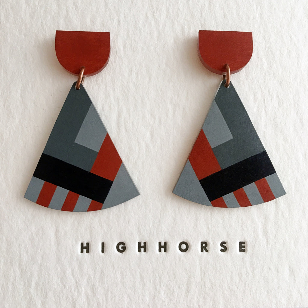 highhorse : trapeze earrings