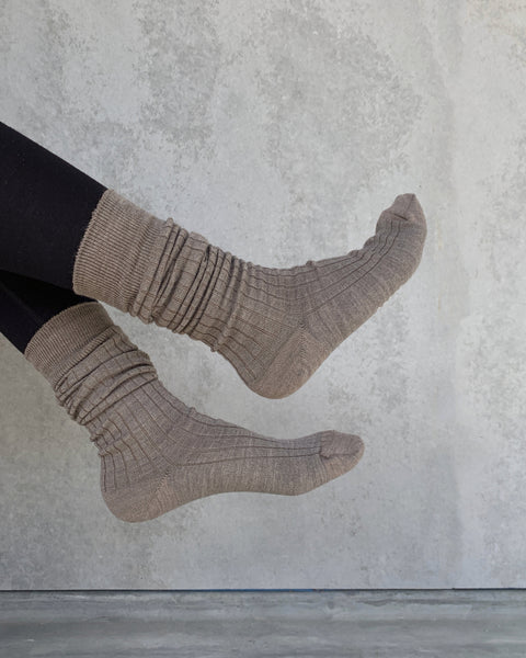 hakne : merino wool ribbed high socks