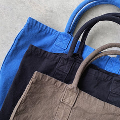 make up co. : washed canvas tote in ocean