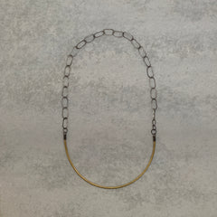 jane hodgetts : chain and crescent necklace