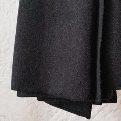cashmerism : oversize wrap in charcoal