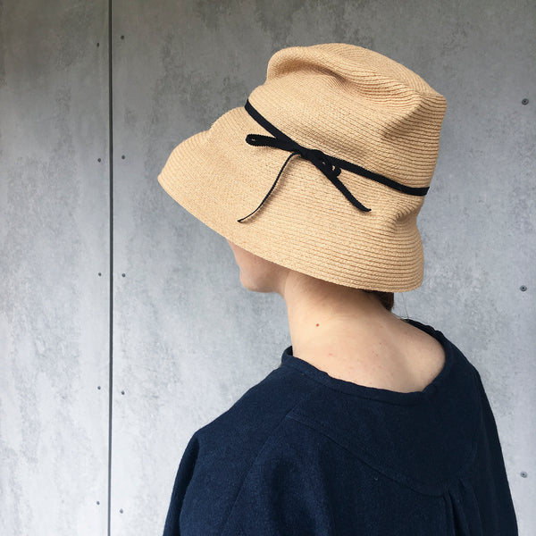 mature hats : boxed hat raffia