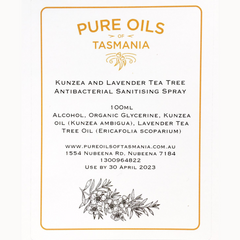 pure oils of tasmania : kunzea and lavender tea tree sanitising mist spray