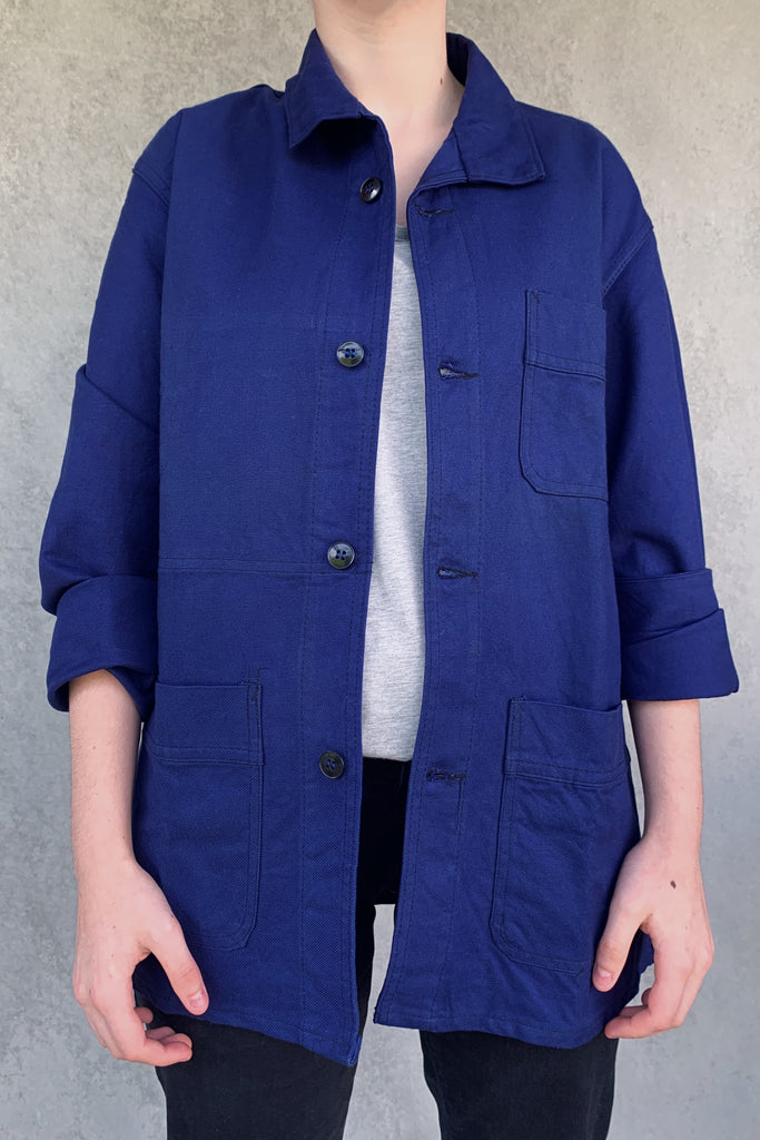 vintage french workwear jacket