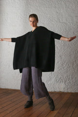 cashmerism : poncho in carbon