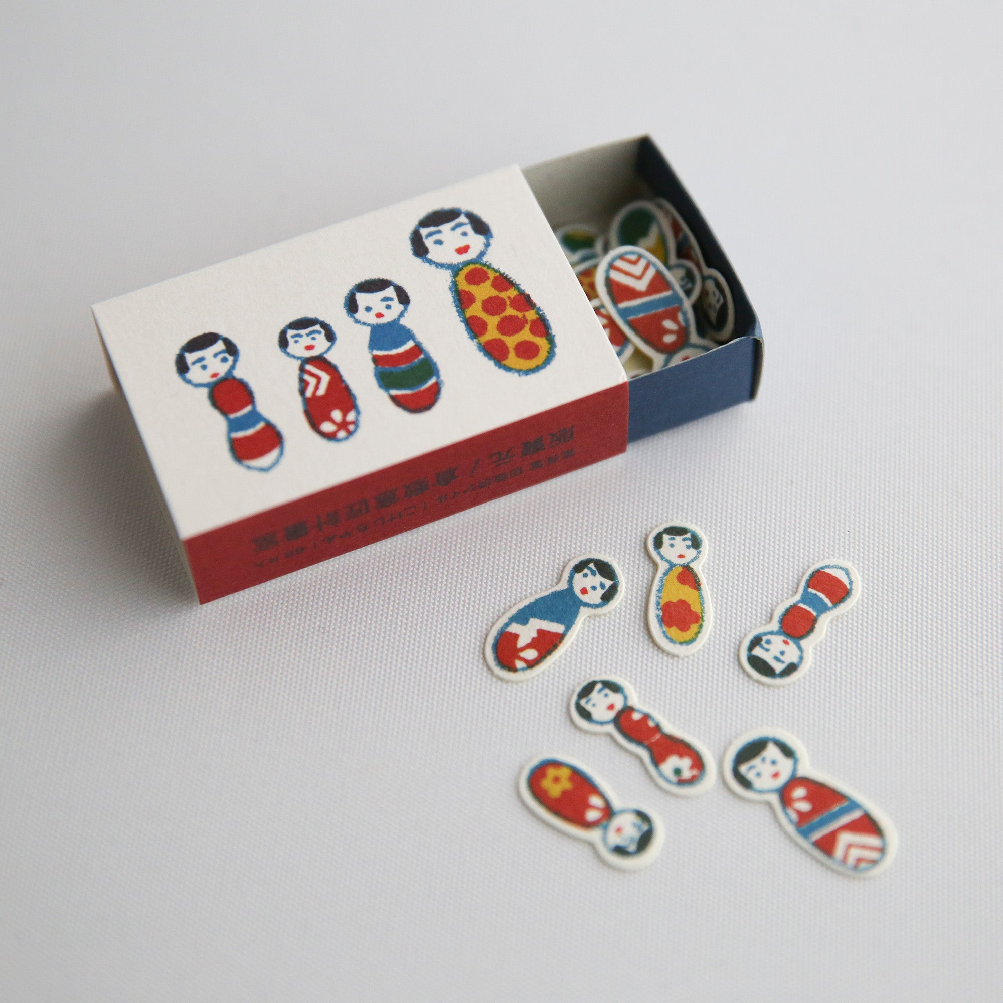 kobe kokeshi matchbox stickers
