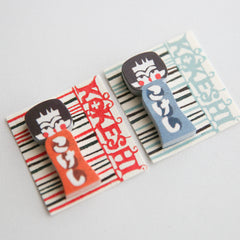 mihoko seki : kokeshi doll sticky notes