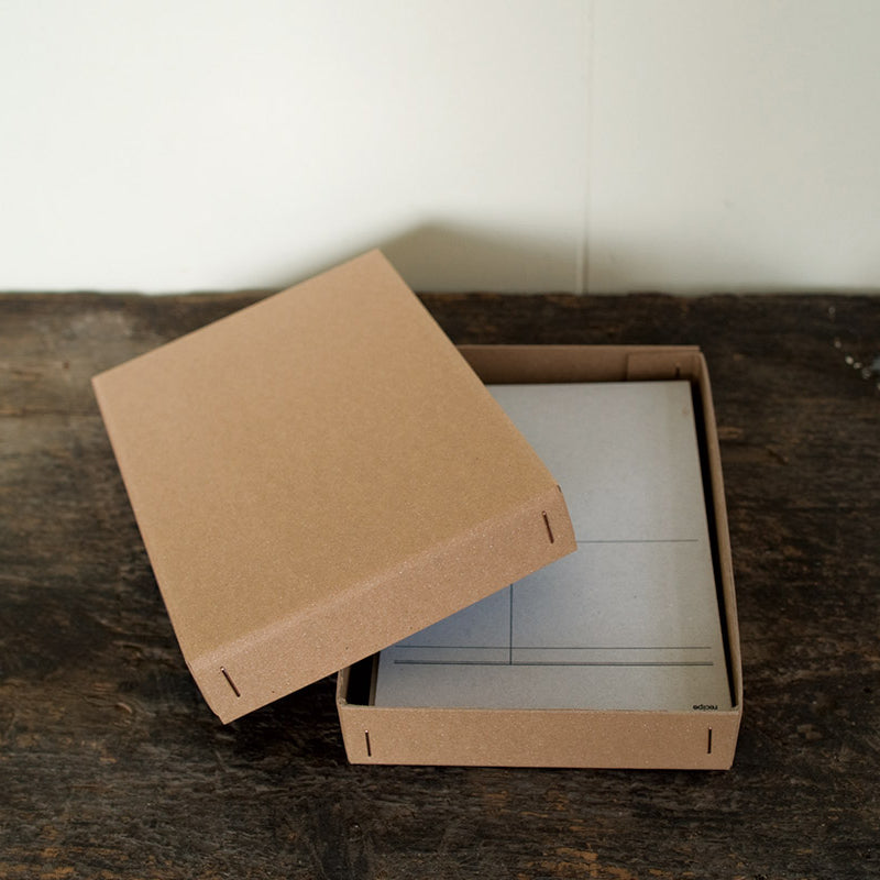 drop around : waxed cardboard box