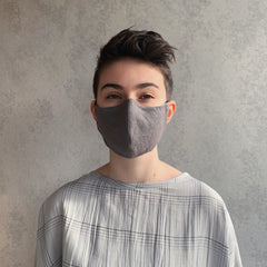 the maker : face mask in ink pinstripe L
