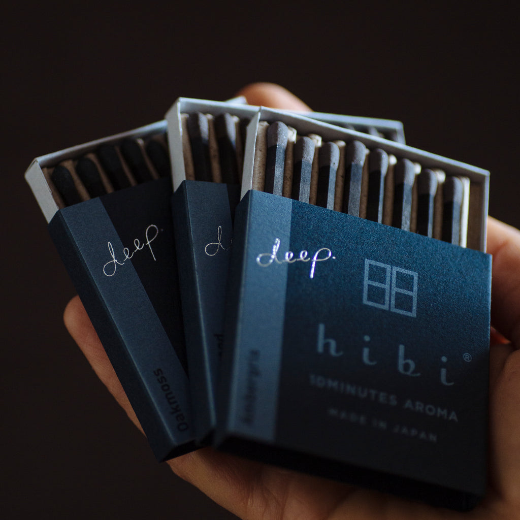 hibi 10 minute incense <em>deep</em> scents : cedar wood