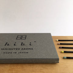 Japanese incense, Awaji incense, Hibi, 10 minute incense, Kobe match, Hibi Australia, Hibi Melbourne, Japanese designer homewares, Uki Hibi,